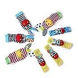 Edealing 2SET Luminoso bambino infante Lamaze polso morbido piede calze Rattle Mani Paga finder giocattolo