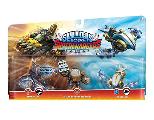 Skylanders Superchargers 3 Pack Multi Pack 1 (Shark Shooter Terrafin, Shark Tank, Jet Stream) -