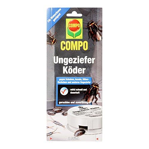 COMPO 17698 Ungeziefer-Köder, Bekämpfung von Silberfischen, Schaben und Asseln, 2 Köderdosen