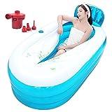 HONGYANDAI Faltende Aufblasbare Badewanne Erwachsene Badewanne Gepolsterte Wanne Haushalt Groß (Blau, 160 * 85 * 68cm)