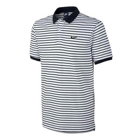 NIKE Polo de matchup Pique Mini Striped M Blanc - Noir/Blanc
