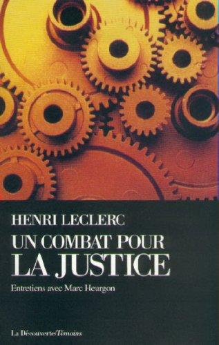 Un combat pour la justice (Cahiers libres) (French Edition)