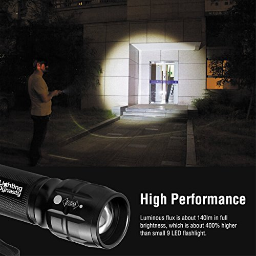 Lighting-Dynasty-CREE-LED-Torch-Super-Bright-Adjustable-Focus-DURACELL-Batteries-Included