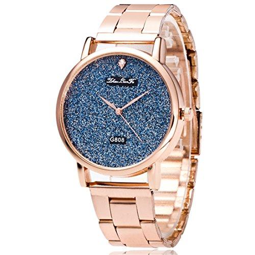 Souarts Damen Edelstahl Armbanduhr Quartzuhr Analog mit Batterie