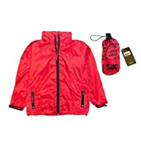Mac in a Sac Unisex Kids Classic Waterproof Jacket - Red - 32/34