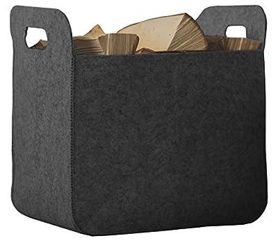 Rubberneck Storage Basket with Handles, Foldable Felt Box, 25 x 35 x 35 cm