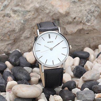 Belles montres, Nouvelle arrivée occasionnel des femmes montre à quartz marque de luxe de haute qualité genève mode montre-bracelet relogio horloge ( Couleur : Noir , Taille : Taille Unique