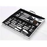 BrilliantDay 18 piezas acero inoxidable asador con estuche de aluminio - sistema de herramienta Profesional Barbacoa parrilla - La mejor opción para los amantes de la barbacoa