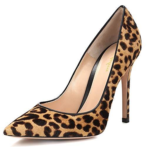 Lutalica Scarpe da Donna Décolleté con Tacco a Spillo e Tacco Alto da Donna Scarpe Tacco Alto Donna Sexy Leopardo Taglia 35