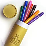 Acrylic Paint Pens Set Of 8 Coloured Permanent Marker Pens For Multi Surface use, Ceramic, Canvas, Wood, Fabric, DIY Projects, Set Of 8 Acrylic Paint Coloured Medium/Fine Tipped Markers In Gift Box