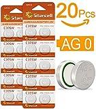 Act intercettazione senza mercurio a bottone alcaline AG0/LR63/LR521/379 (1,5 Volt, 20er Pack)