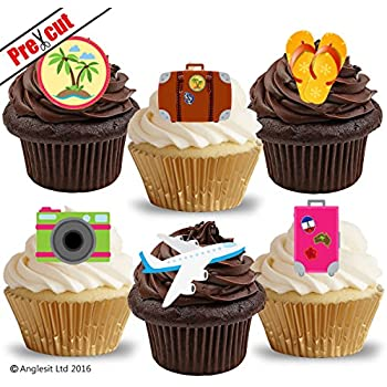 A4 icing sheet cake toppers handbag world map globe earth pre cut travel accessories edible rice wafer paper cupcake cake toppers summer beach party decorations sciox Images
