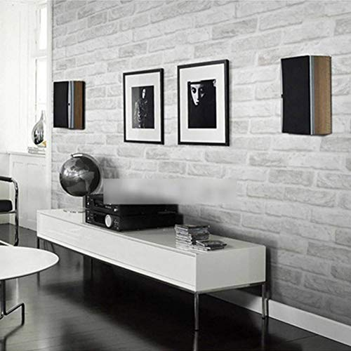 ACYKM 3D Wandbild Benutzerdefinierte Graue weiße Ziegel für Wände Wohnzimmer Schlafzimmer Stein Wand Papier Backstein Wohnkultur 300 * 210cm - 3700 Papier