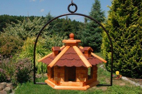 Vogelhaus mit Gauben Nr16 Dach rot