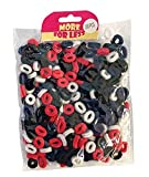 300 Pack of Girl's Hair Bobbles Bands Mini Baby Ponytail Elastic Stretchy Hairband (Black/Navy/Pink/White)