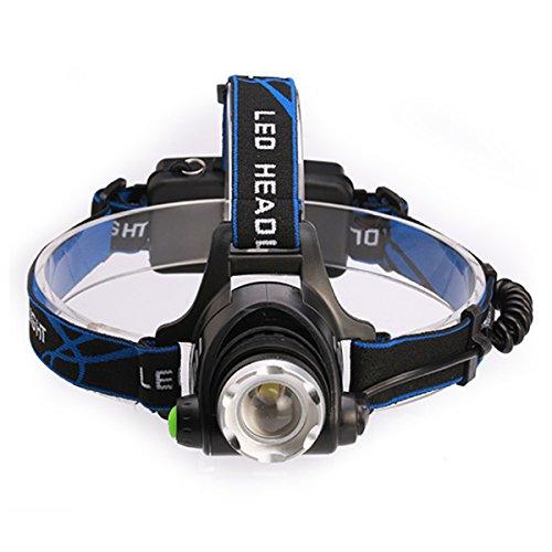 LED Stirnlampe, L2 Highlight Lampe, 1000 Lumen CREE XM-L2 LED Scheinwerfer Scheinwerfer,3 Stunden kontinuierliche Beleuchtung, für Joggen, Laufen, Camping, Angeln oder Jagen Stirnl