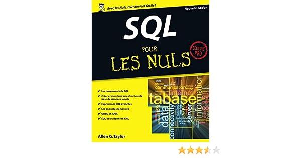 Sql Pour Les Nuls Pdf