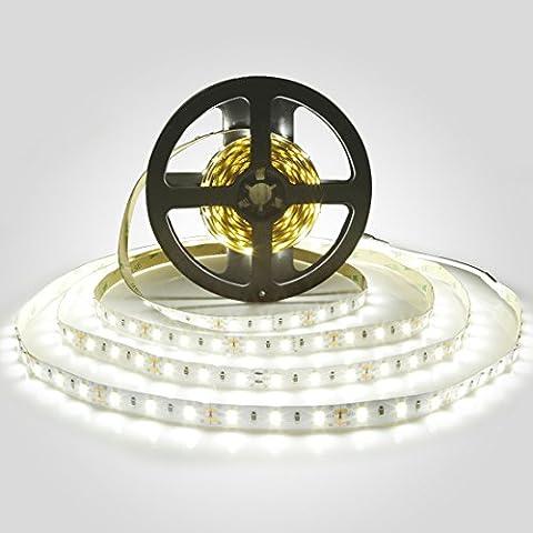 LEDMO Bande LED,DC12V SMD 5630-300LEDs Ruban LED,IP20 Non-étanche Blanc Froid Lumière LED Flexible,300LEDs,Pack avec Bande LED 5M(Pas d'alimentation 12V 5A)