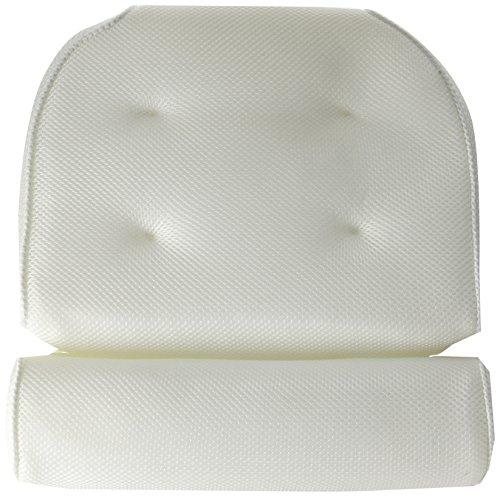 Blue Coast Collection–Coussin de bain pour baignoire et jacuzzi! L'oreiller de spa Bonnieu haut de gamme conçu pour le confort avec des fibres douces et de grandes ventouses, oreiller facile à nettoyer et résistant aux odeurs pour jacuzzi avec tech