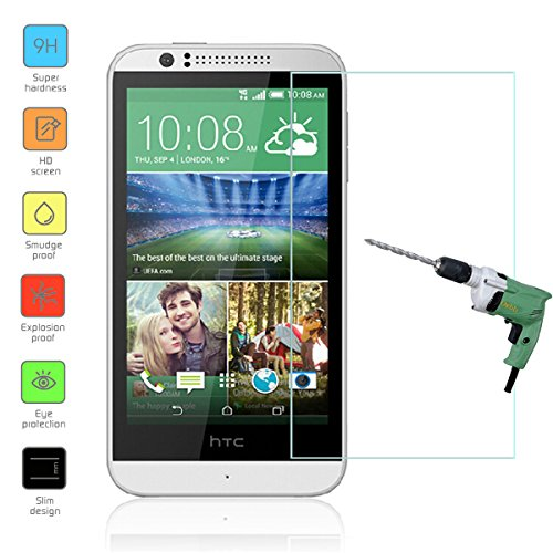 Htc 510 Protector Screen (Owbb Glas Display Schutzfolie für HTC Desire 510 Smartphone Screen Panzerglas Protector Hartglas Schutzfolie nur 0.3mm dünn, 9H, 2.5D Round Edge)
