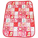 Babysid Collections Baby Mat Waterproof Baby Change Mat Pink And Red Checked Animals Size : 80 X 58 Cm