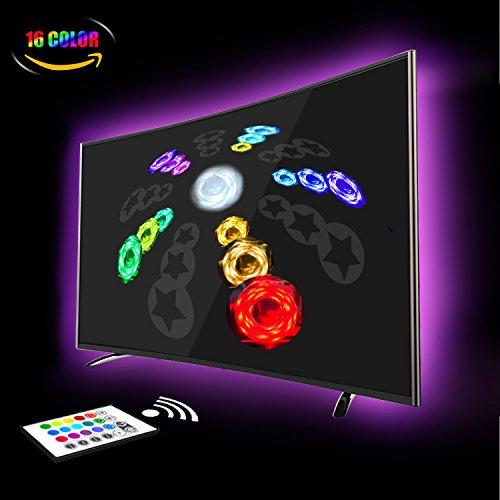 LED Strip, LED TV Hintergrundbeleuchtung 2M Wasserdicht USB Led Hintergrundbeleuchtung Beleuchtung Für HDTV und PC-Monitor RGB TV Licht mit 24keys Remote, LED Streifen