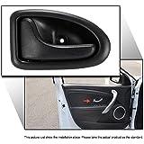 KKmoon Manijas Interior Tirador de Puerta Izquierda Grab para Renault Clio Megane, Color Negro