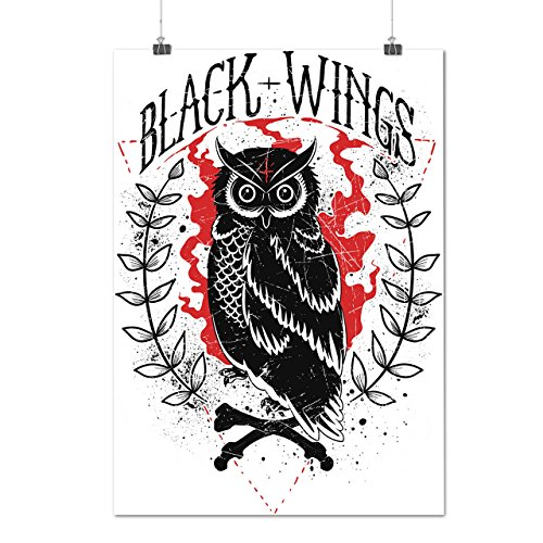 black-and-wings-owl-wild-forest-matte-glossy-poster-a3-42cm-x-30cm-wellcoda