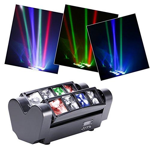 U`King Moving Head Spider Licht Discolicht Partylicht RGBW 8X10W LED Lampe für Bar Weihnachten Party -