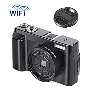 Camera Digital Camera Video Camera Full HD 1080P vlogging camera 24.0MP Ultra HD WiFi Youtube Camera 3.0 Inch 180 Degree Rotation Flip Screen Camera 16X Digital Zoom