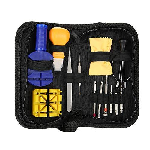 Uhren Werkzeug Set, Tragbar Uhrwerkzeuge Reparatursätze Set Uhrmacherwerkzeug Uhr Werkzeug Gehäuse Öffner -