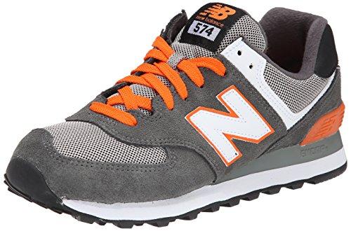 New Balance Ml574 D, Baskets mode homme Gris (Cgo Grey/Orange)