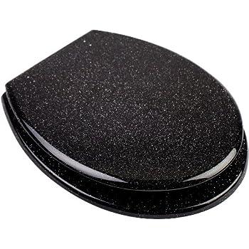 High Quality Black Glitter Toilet Seat Universal Fittings