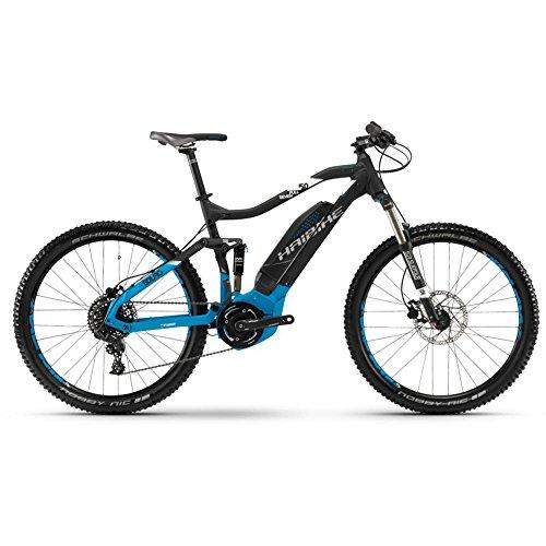 Bicicleta de montaña Haibike Sduro fullseven 5.0, colornegro / azul / blanco mate, modelo 2018, color Schwarz/Blau/Weiß matt, tamaño 48...