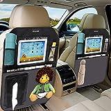Drivaid Organizadores para Coche, 2 pack Impermeabl Kick Mat, Universal Multi-Bolsillos, Soporte para 10'' iPad Tablet, Funda para Protector de Asiento de Coche Niños BeBe