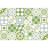 Ambiance-Live 24Pegatinas Adhesivos carrelages | Adhesivo Adhesivo Azulejos–Mosaico Azulejos de Pared de baño y Cocina | Azulejos Adhesiva–Patchwork Verde–10x 10cm–24Piezas