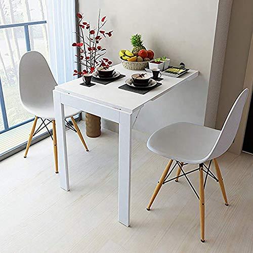 YY&L Kompakter, An Der Wand Anbringbarer Esstisch, Multifunktions-Home-Desk, Moderner Minimalistischer Computertisch, Schreibtisch, Weiß / 90 * 60Cm,White,74 * 45Cm - Kompakter Esstisch