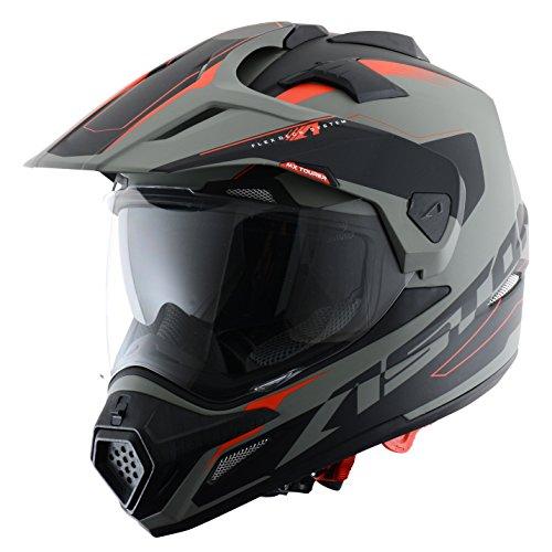Astone Helmets tourer-advbrl Kopfhörer Tourer Adventure, Grau/Schwarz, M