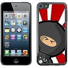 All Phone Most Case / Oferta Especial Duro Teléfono Inteligente PC Cáscara Funda Cubierta de proteccion Caso / Hard Case Apple iPod Touch 5 // Rising Sun Japanese Ninja Warrior