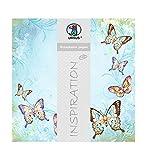 Ursus 70300073 - Premium Glitter Scrapbook Paper Schmetterlinge, ca. 30,5 x 30,5 cm, 5 Blatt, Motiv 73
