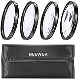 Neewer Optique 58mm 4 Pièces +1 +2 +4 +10 Gros Plan Objectif Filtres Macro Kit Avec Sac De Transport Pour Appareil Photo Reflex Caméra