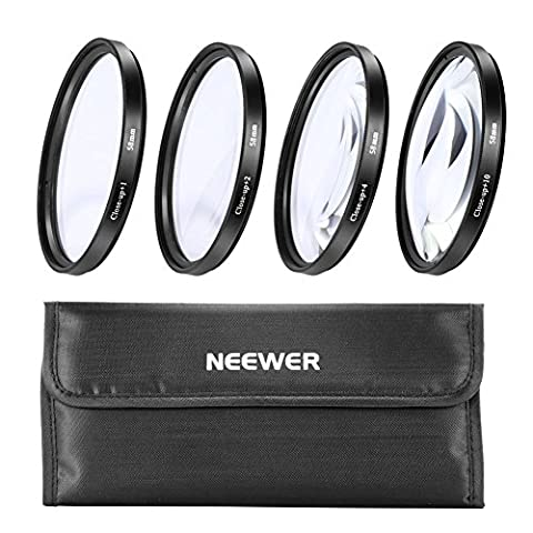 Neewer® 58mm +1+2+4+10 Close-Up Macro Filter Set for Canon Nikon Sony Samsung Pentax and Other Digital SLR Camera Lens with 58mm Filter Thread