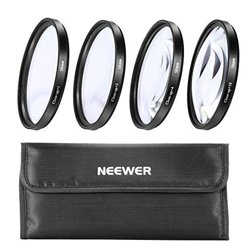 Neewer® 58mm 4pz. Macro Close-up Filtro Kit (+1, +2, +4, +10) con Borsellino di Filtri per Canon Nikon Sony Samsung Pentax e altri Digitale SLR Fotocamera Obiettivo con 58mm Filettatura di Filtro