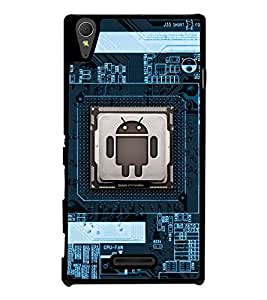 Fuson Premium 2D Back Case Cover Mother board With Brown Background Degined For Sony Xperia T3