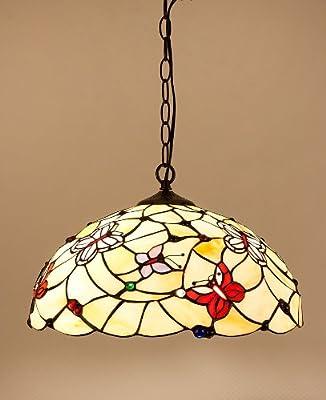 """Pendelleuchte Hängelampe im Tiffany-Stil """"Butterflies"""""""