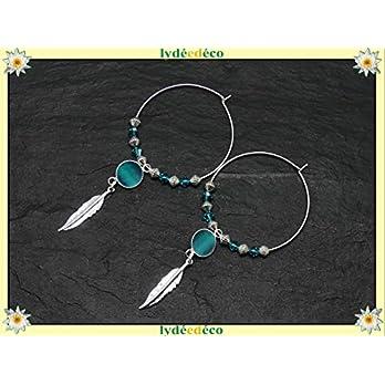 Ohrringe FEDER Messing 925 Silber Ente blau türkis Harz strass Swarovski-Kristall personalisierte Geschenke Weihnachten Jubiläumszeremonie Hochzeitsgäste Muttertag