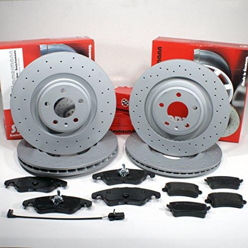 Preisvergleich Produktbild Zimmermann Sport Bremsscheiben belüftet 1LJ,1KE gelocht Coat Z/Bremsen + Bremsbeläge für vorne + hinten
