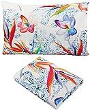 Set Bett Bettbezug Single 1Einzelbett Boxsack cm 155x 200+ 1Kissenbezug Bassetti Life Sterlizia 100% reiner Baumwolle Digitaldruck in
