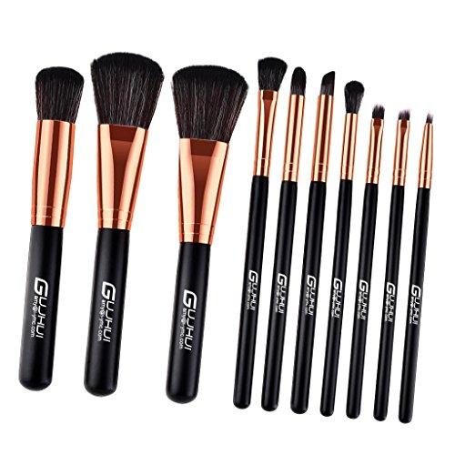 Homyl Ensemble Pinceaux de Maquillage Professionnel 7pcs / 10pcs - 10pcs