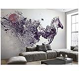 Ayzr Benutzerdefinierte Wandbild Fotowand 3 D Schlafzimmer Wohnzimmer Hintergrund Wände Tapete Zusammenfassung Zebra Fototapete 3D, 200Cmx100Cm